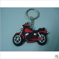 3D rubber motorcycle key ring for promotional, motorcycle keychain