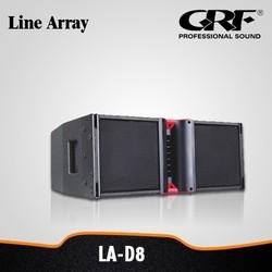 "GRF PRO Audio Professional Dual 8"" Mini Line Array Speaker System"