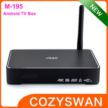 HOT M-195 Realtek android 4.4 8GB 4k internet tv box