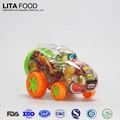 Juguete del coche moderno con dulce fruta jellys, Caramelo de goma de la jalea