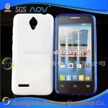 Wholesale TPU S line non-slip cheap mobile cell phone case for Alcatel One Touch Idol 2 mini OT-6016A 6016E