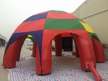 8m dia pvc coated tarpaulin inflatable advertising dome tent with 6 leg