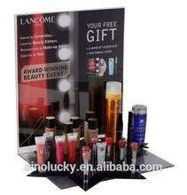 desktop acrylic cosmetic display for LANCOME