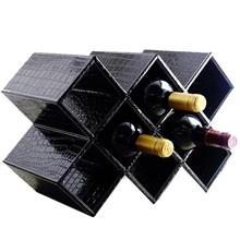 Decorative leather wine beer bottle holders