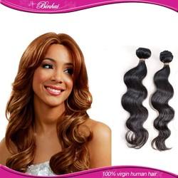 100% Virgin Human Hair hair Hair Weft Sealer For Good Quality