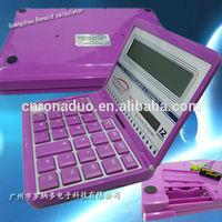best Unique calculator 12 digits wholesale desktop solar A4 size gift Bigger than CT-8855V calculator components