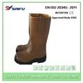 sf6815 en345 padrão couro genuíno de segurança do trabalho boot