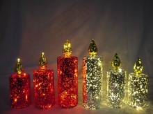 2014 new product led flickerl christmas candle for christmas