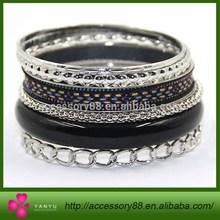 Fashion metal jewelry bangle bracelet set/china wholesale