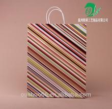 new design paper bag Custom Logo Printed brown craft gift shopping paper bag Wholesale