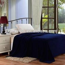 solid navy blue blanket bedding throw fleece full queen super soft warm value