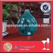 Wholesale 750ml antique green liquor glass bottle