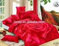 Red rose pattern 3d bedroom set big flower printed 3d bedding set luxury wedding bedding set