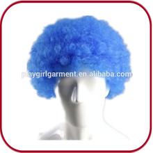 2015 Cheap Crazy Blue Fans Cheap Party Afro Wigs PGW-0352