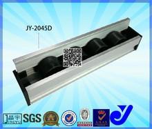 rubber wheel skate ..plastic roller track conveyor guide rail slide for packing l JY-2045D