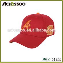 6 panel custom embroidery baseball cap/long visor cotton sports cap