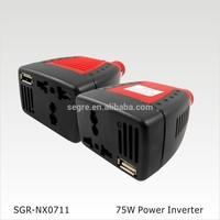 12v 110v dc ac inverter 75W with usb port 2.1A