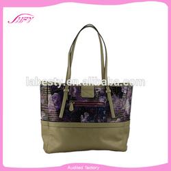 Shenzhen bag for Ladies pu handbag with high quality women shoulder bag