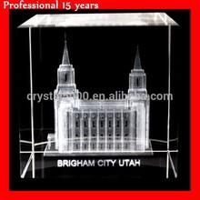 LDS Brigham City Utah Temple Crystal Cube