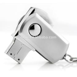 Bulk cheap stainless steel roytation type USB flash drive