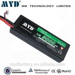 High discharge rate 40C lipo rc car battery 7.4v 5000mah