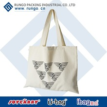 High Quality Black Bag made of Canvas or 100% Cotton for Shopping