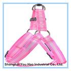 Soft Adjustable Nylon Pink Dog Harness Supplier no leash