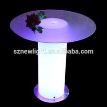Cool shape illuminating LED light interactive cylinder bar table
