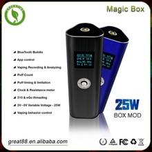 Ponta de cigarro oito cores caixa mágica 25 w mod e cigarro eletrônico inteligente