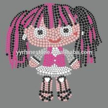 doll(pretty girl) heat rhinestone transfers