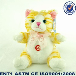 Plush yellow cat/Stuffed pussy/lifelike cat plush toy