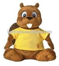 beaver plush toy plush beaver soft toy beaver with shirt
