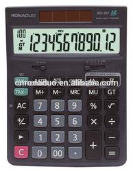 gift mini calculator black 12 digits tax electronic desktop solar currency converter calculator