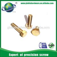 Customized brass hexagonal screw/ copper screw m4