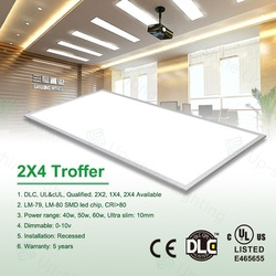 Hot sale !!! UL cUL DLC 0-10V dimmable Meanwell driver 2x4 ft led panel