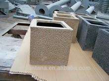 glass flower pots wholesale small square plant box sand blast