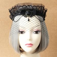MYLOVE handmade custom lady black party face lace mask high quality MLMJ10