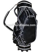 crystal leather all black golf bag