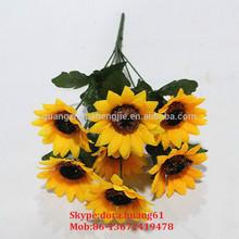 SJH121659 artificial flowers artificial sunflower bouquet plastic flower bouquet
