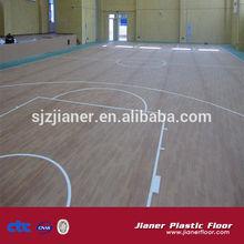 PVC Vinyl Rolls Floor Maple Wood Basketball