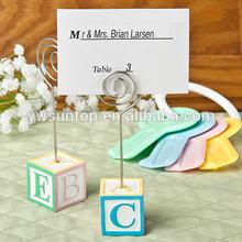 Adorable alphabet block design card/note holders baby card holder