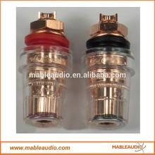 858-S-RU CMC Red Copper Plated Speaker Binding Post Short