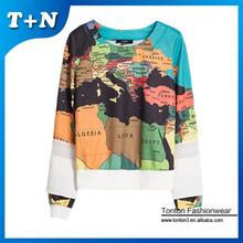 2015 high quality dye sublimation custom printed crewneck sweatshirt