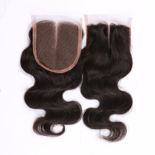 Bottom price antique peruvian body wave closure free shipping