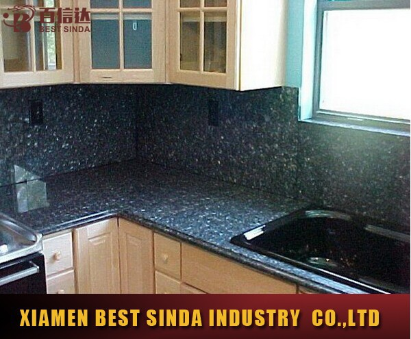 Popular kitchen used blue pearl laminate countertops, View ...