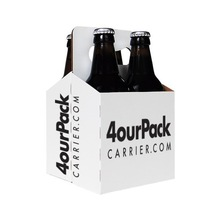 Custom wholesale high quality paper Material four pack beer carrier