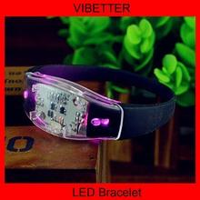 Novelty Party items LED Silicon Motion Bracelets,LED Shock Lighted Up Wristbands,LED Flashing Bracelets