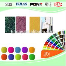 Exterior wall decorative powder coating