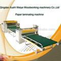 Matéria-prima madeira máquina para móveis de trabalho da placa de laminado de filme de pvc