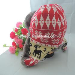 knitting pattern animal earflap hat muffs